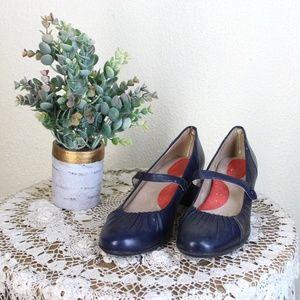 "SoftWalk || Black Mary Jane Style 2"" Heels"